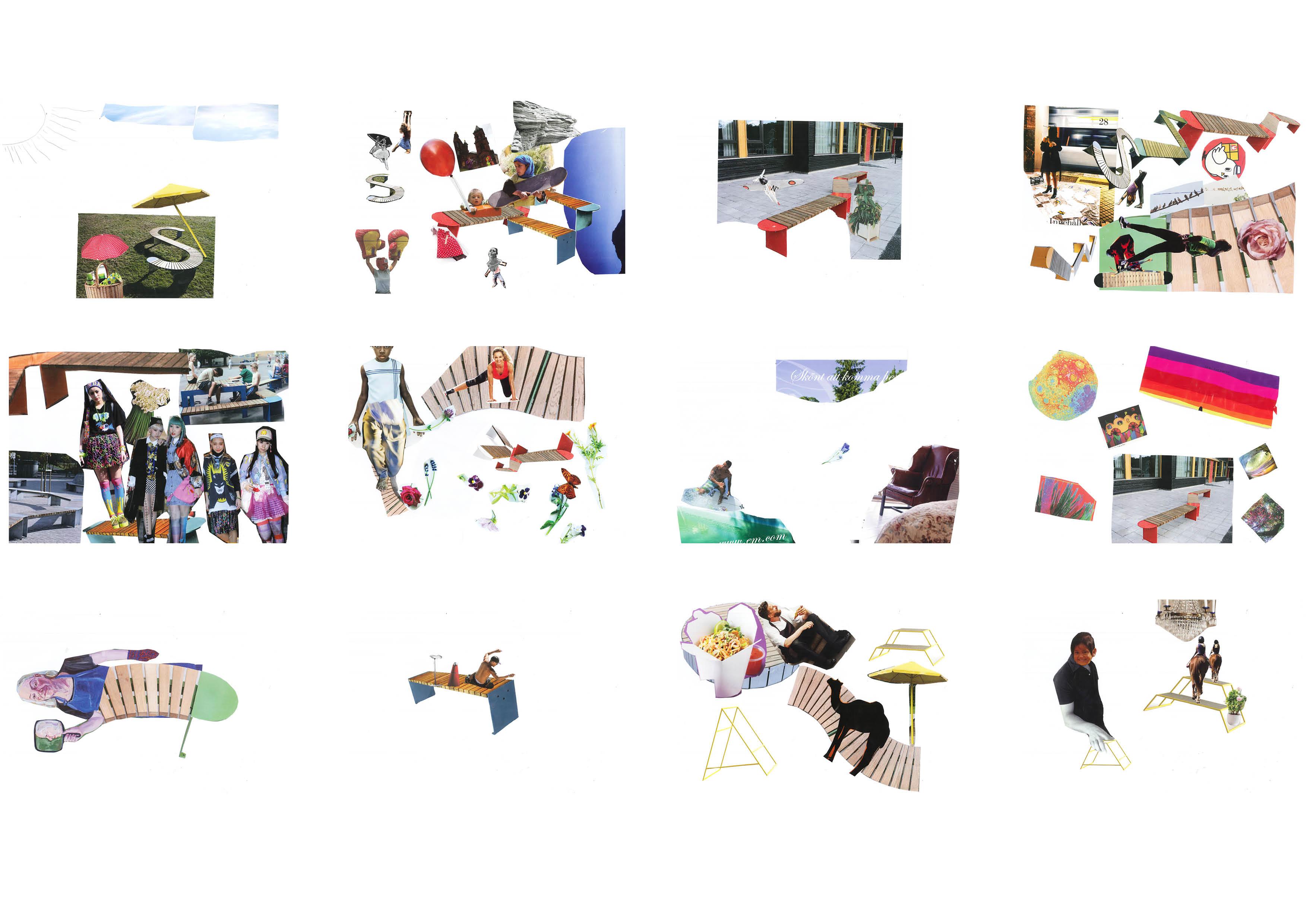 collage i urval
